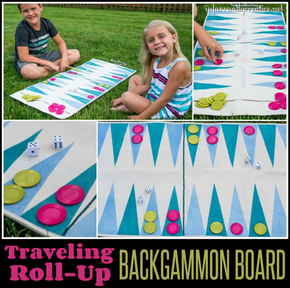 Roll -Up Travel Backgammon Game