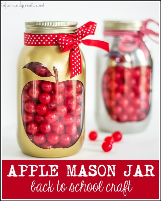 Back to School Apple Mason Jar