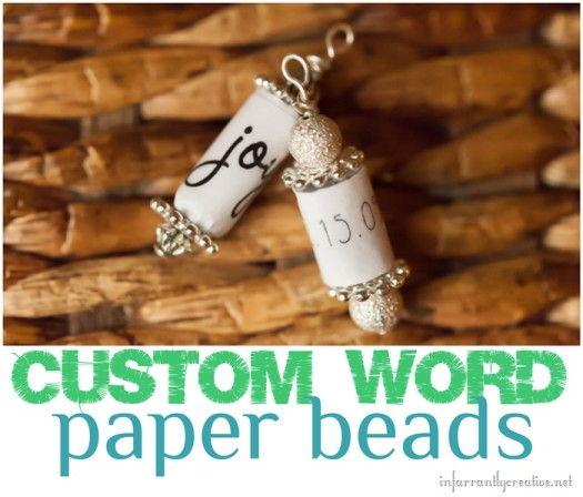 Custom Paper Beads {Great Gift for the Kids to Make}