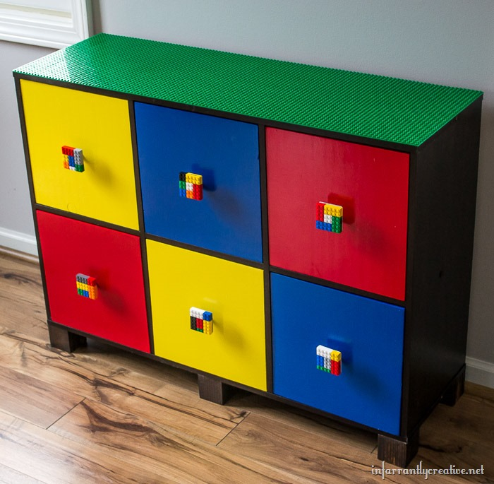 Diy Lego Table With Custom Lego Knobs Infarrantly Creative
