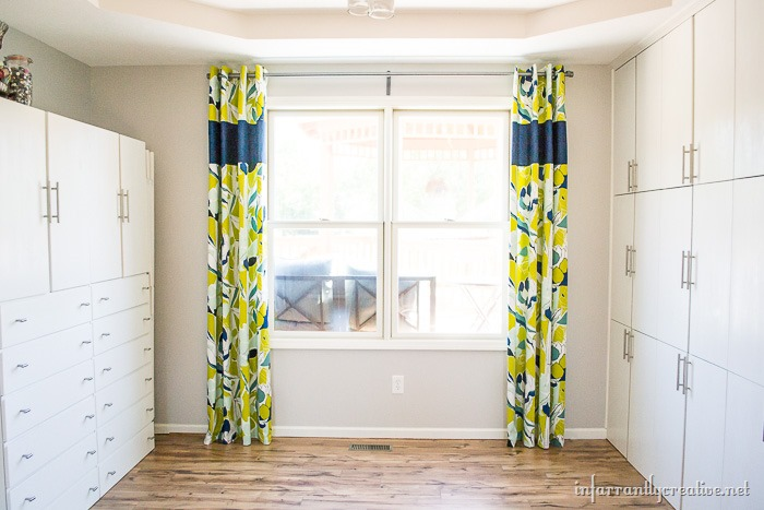 Adding Length to Curtains with a Middle Panel