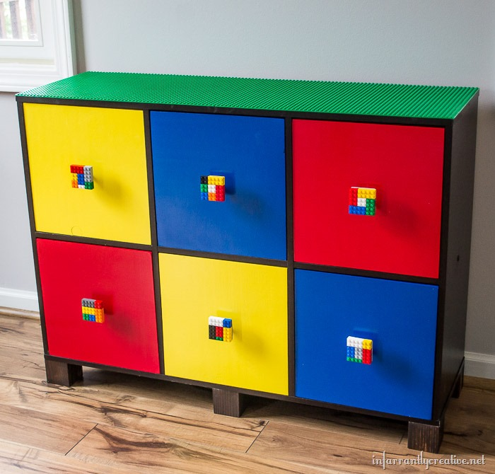 lego table with drawers