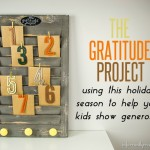 DIY Thanksigivng Project The Gratitude Project - teaching your kids to give