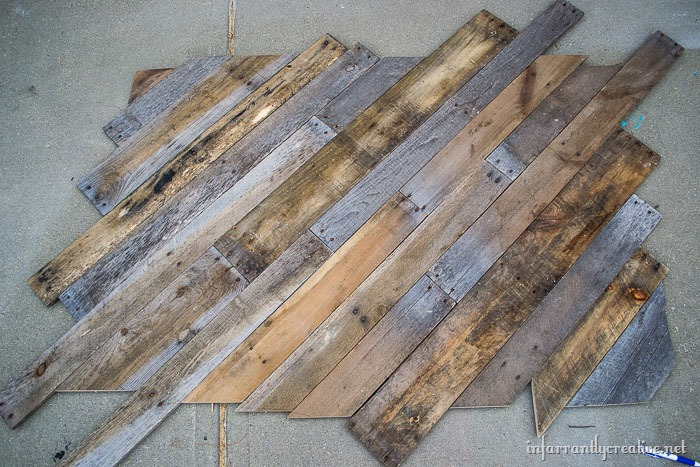 headboard made with pallets