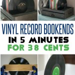 vinyl records bookends