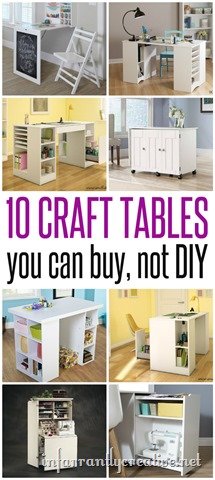 Craft tables you can buy instead of diy infarrantly creative for Craft table with storage plans
