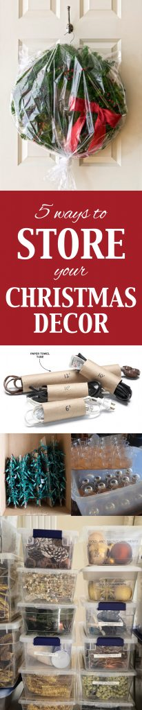 Storage For Christmas Decorations 5 Ways To Store Your Christmas Decor Infarrantly Creative