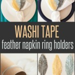 DIY CRAFTS  Washi tape napkin ring holders