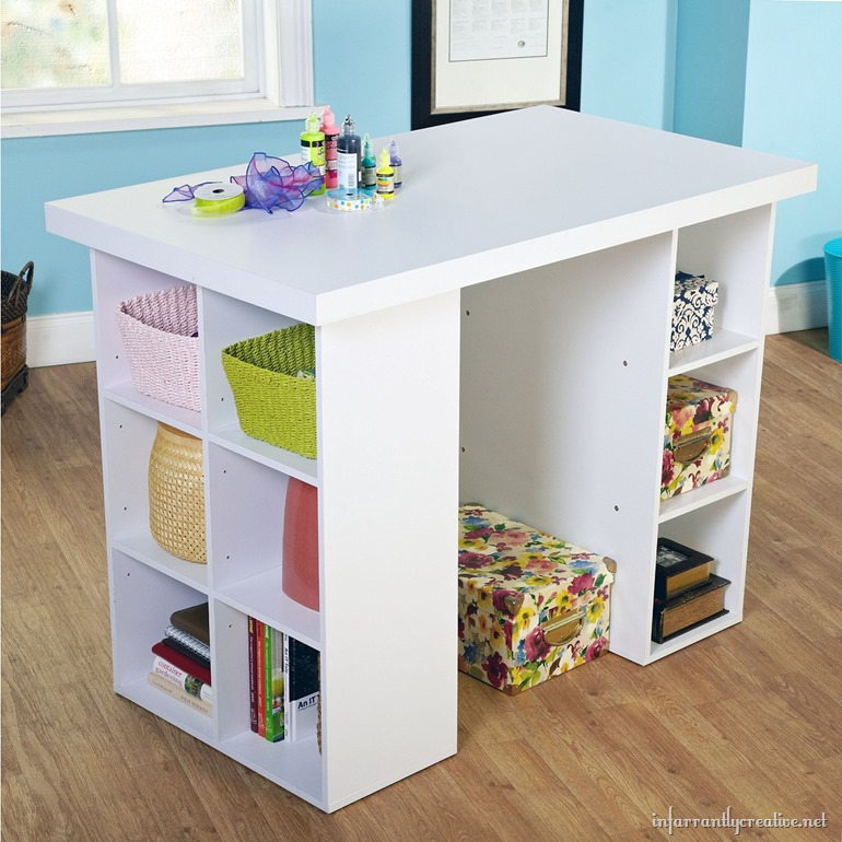 Craft tables you can buy instead of diy infarrantly creative for Small craft table with storage