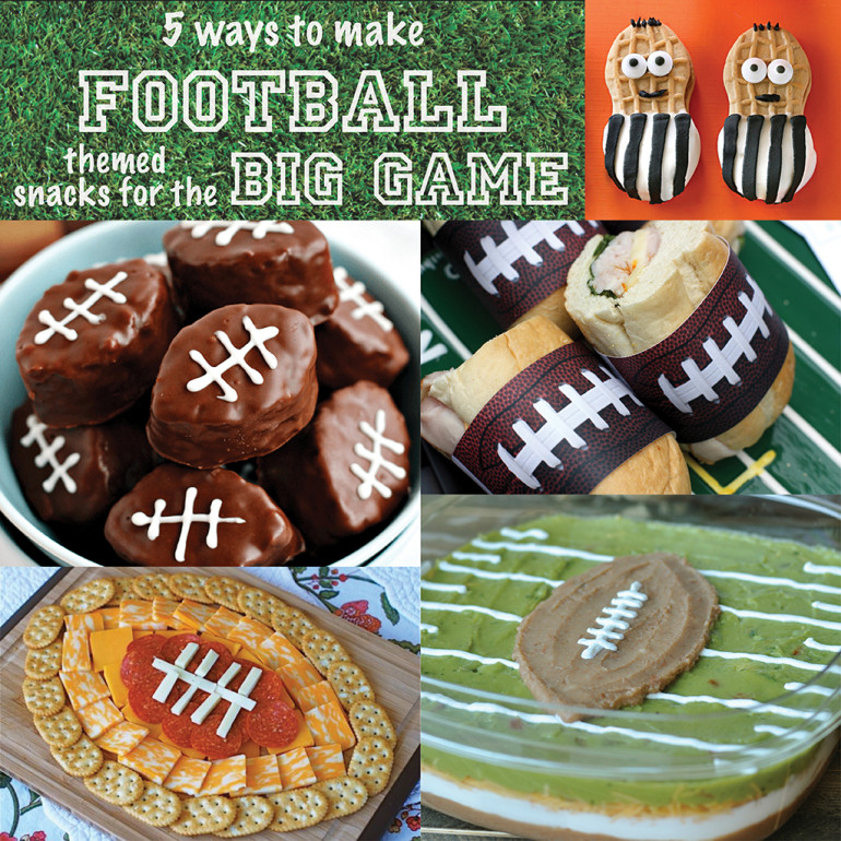 5 Ways to Make Football-Themed Snacks for the Big Game