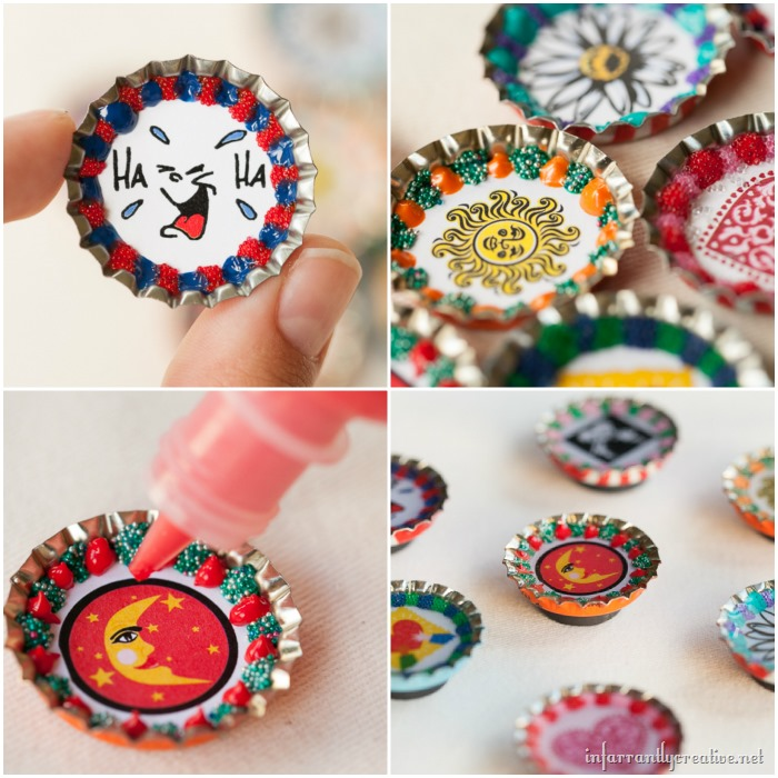 Bottlecap Magnets | The Best Group Craft Project