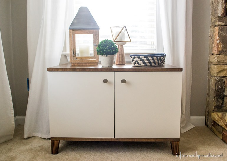 DIY Media Cabinet with FREE PLANS