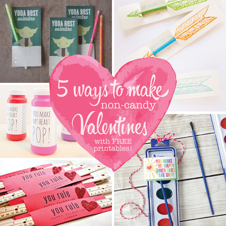 5 Ways to Make Non-Candy Valentines (with FREE Printables!)