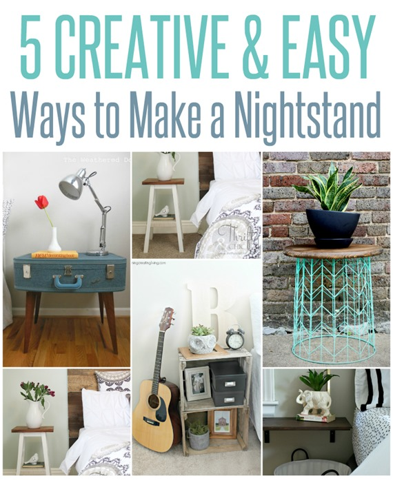 5 Creative and Easy Ways to Make a Nightstand