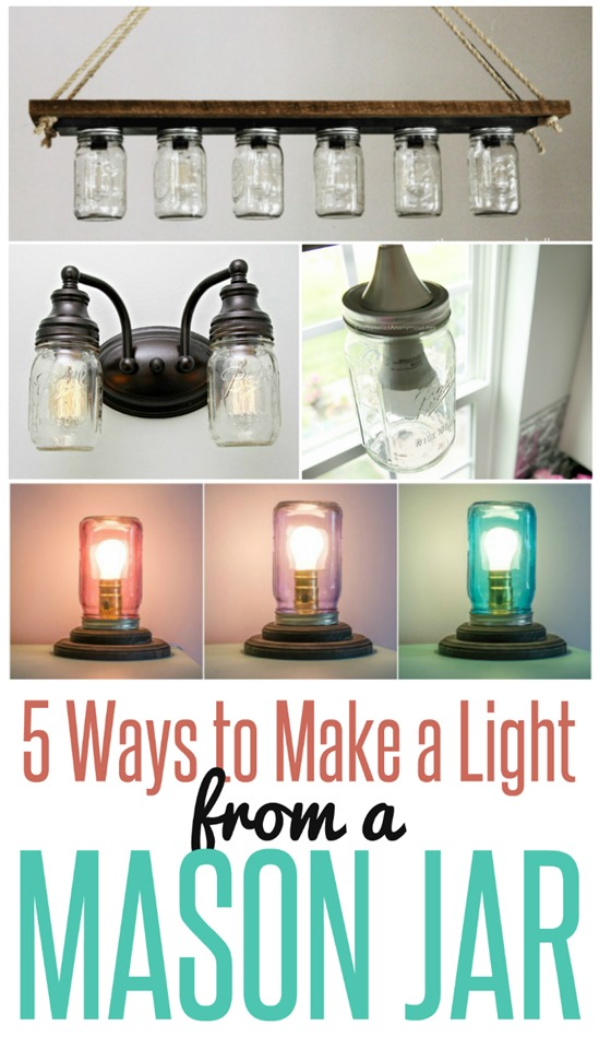 5 Ways To Make A Light From Mason Jar