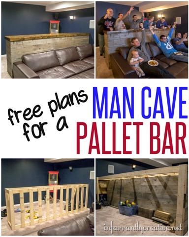 Man Cave Wood Pallet Bar Free Diy Plans Infarrantly