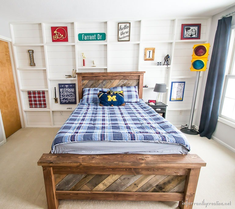 Shiplap and Shelved Feature Wall Styled