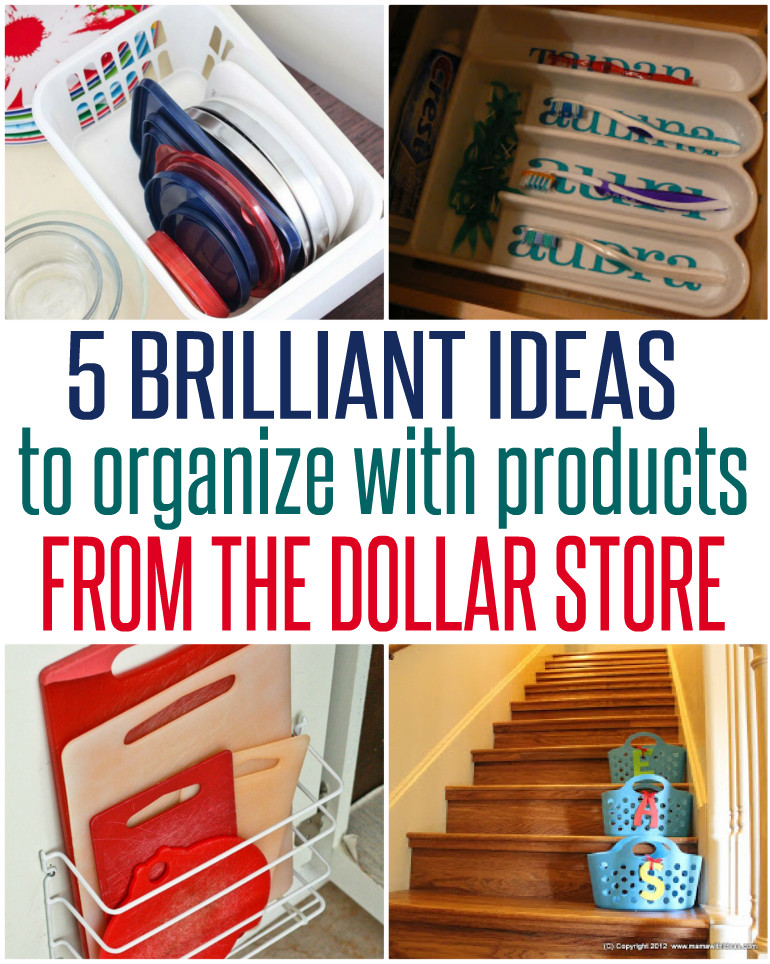 5 Ways to Organize with Dollar Store Items