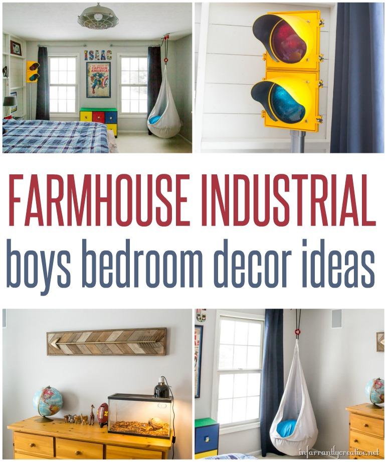 boy's industrial bedroom decor - infarrantly creative