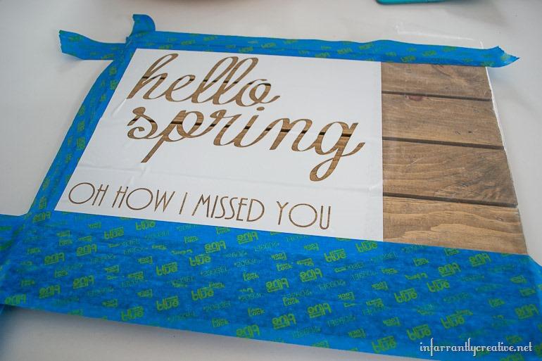 handmade spring sign
