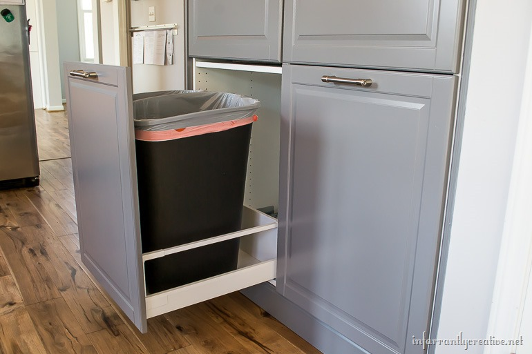 How to assemble an ikea sektion pantry infarrantly creative - Ikea pull out trash bin ...