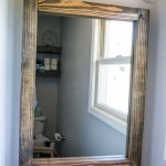 building a wood vanity mirror