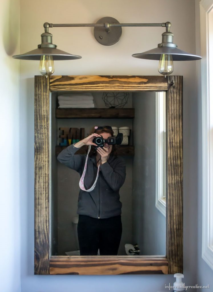 Diy Scrap Wood Mirror