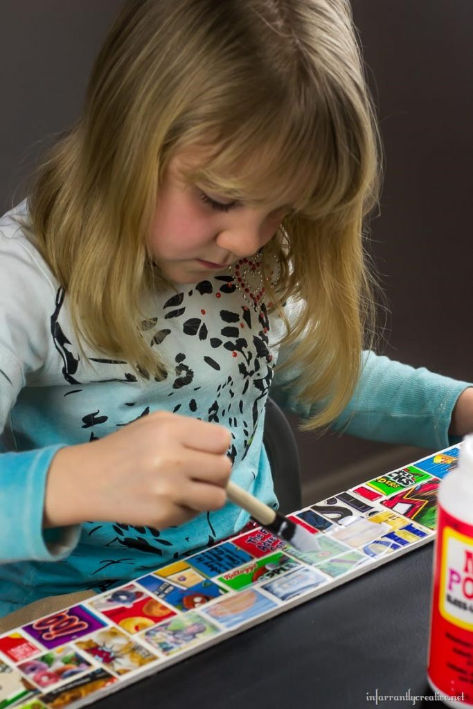 kids crafts with cereal boxes