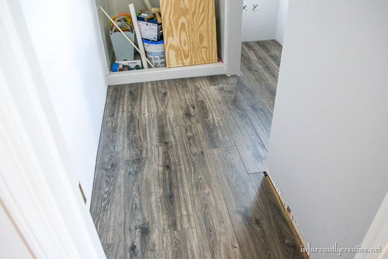 Flooring In The Bathroom And Laundry Room