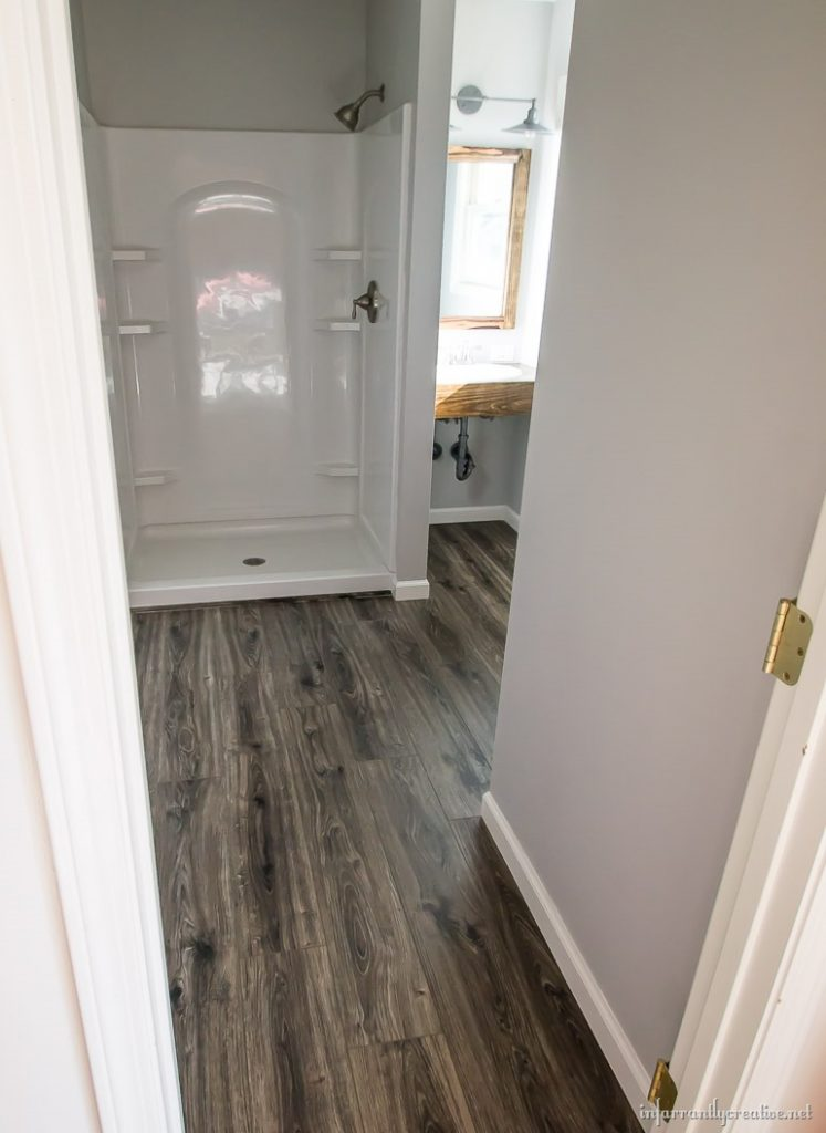 Flooring in the bathroom and laundry room for Floating floor