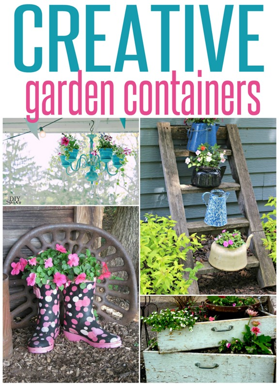 Five Creative Garden Containers