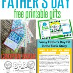 FREE Father's Day Printable Gifts ~ Just print and have fun personalizing with the kids!. These would be fun to do together while Daddy is away at work!