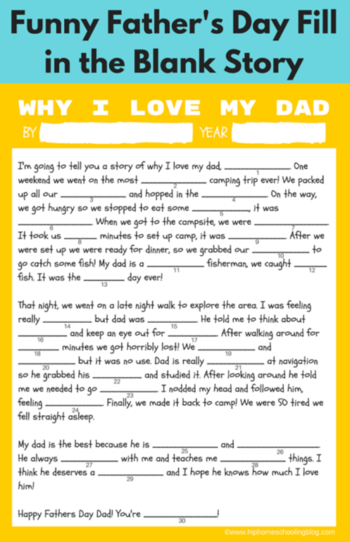 FREE Father's Day Printable Gift Ideas