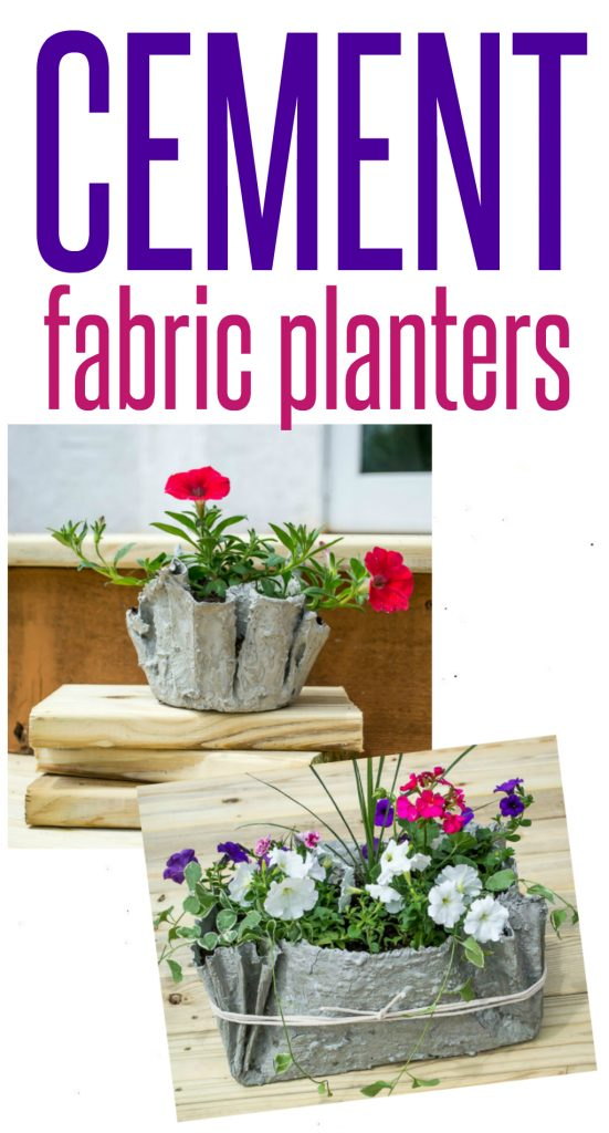 Drop Cloth And Cement Planters Infarrantly Creative