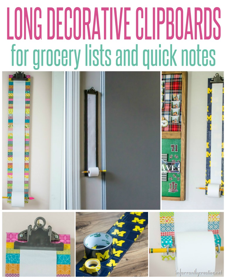 Fit Crafty Stylish And Happy Guest Bathroom Makeover: Customizable Long Clipboard Notepad