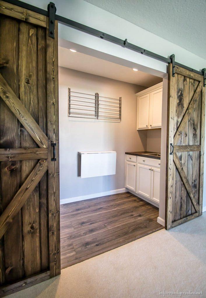 Diy double barn door plans for Barn door design plans