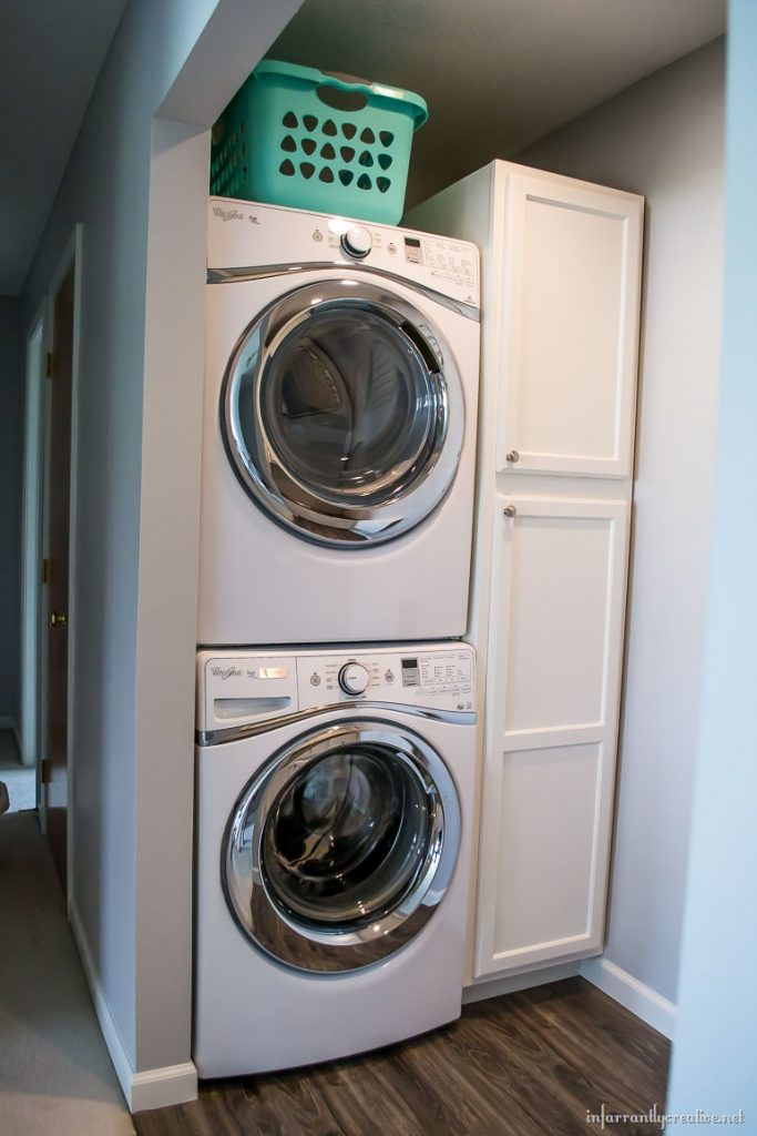 Laundry Room Cabinets {Small Space Laundry Room Area} on Small Laundry Room Cabinets  id=52042