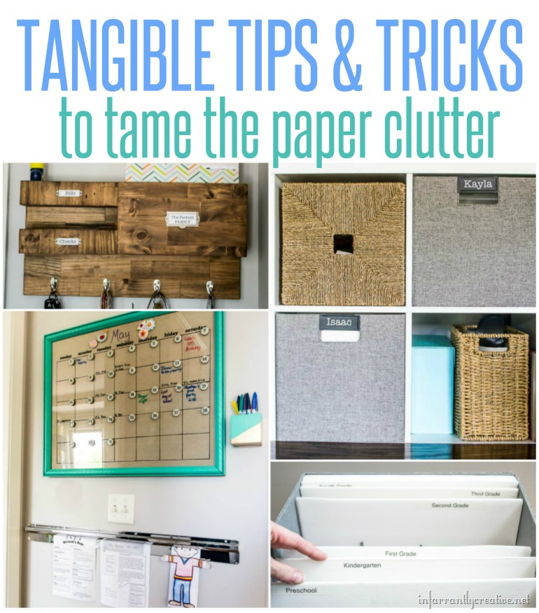 Tips For Organizing School Paper Clutter Infarrantly