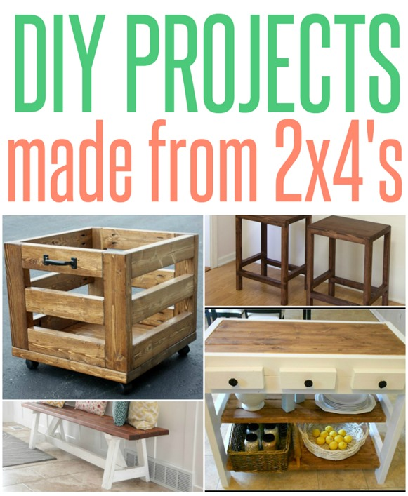 Wood projects made entirely from 2x4 s infarrantly creative for Easy to make and sell products