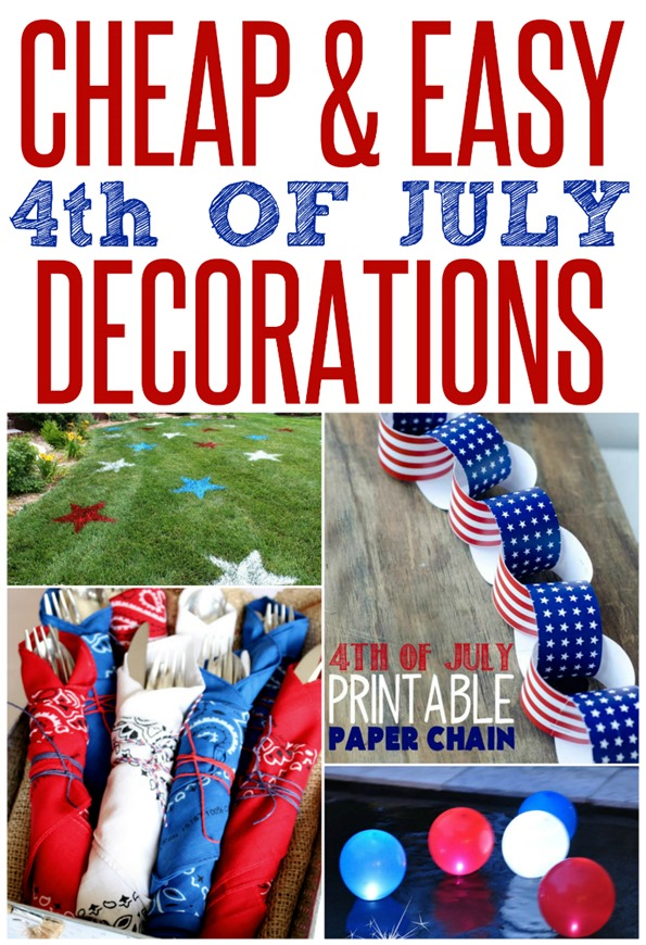 Cheap and easy patriotic party decorations for 4th of july party decoration
