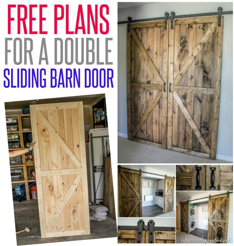 Diy double barn door plans infarrantly creative for Barn door design plans