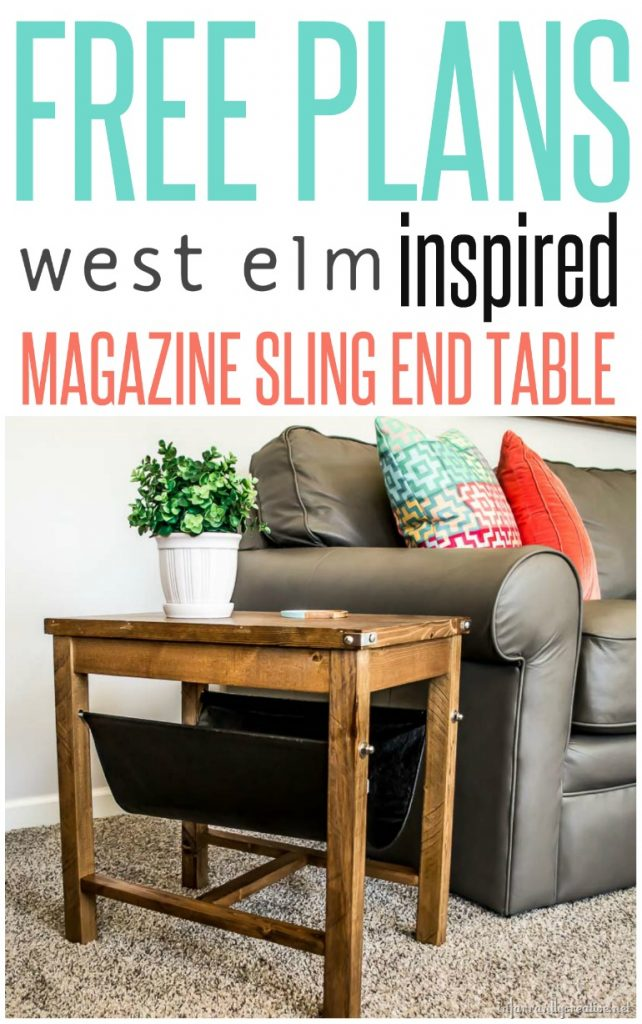 free plans for a west elm inspired magazine sling end table