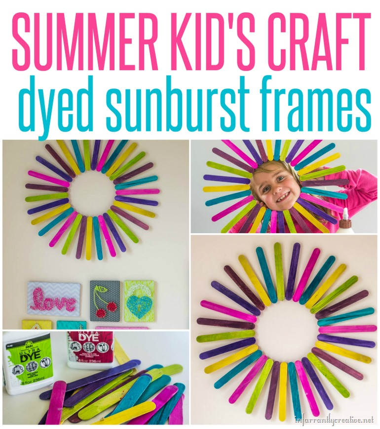 creative crafts with sticks dyed popsicle stick sunburst great summer kid s craft 4180