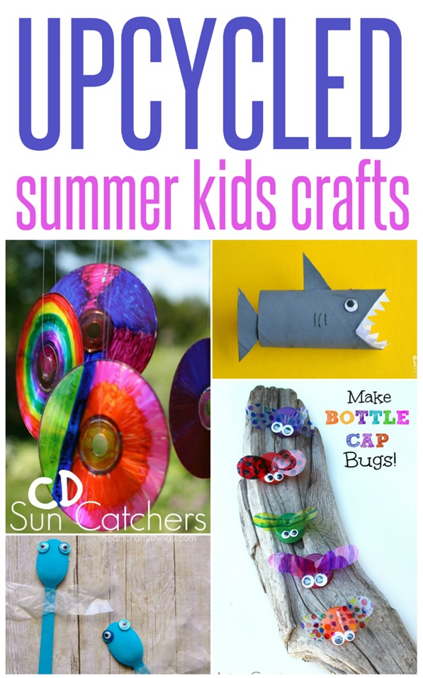 Upcycled Summer Kids Crafts