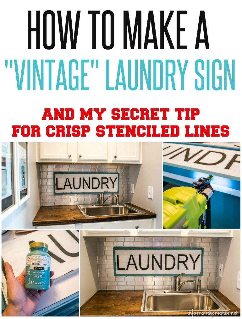 Vintage Looking Laundry Sign