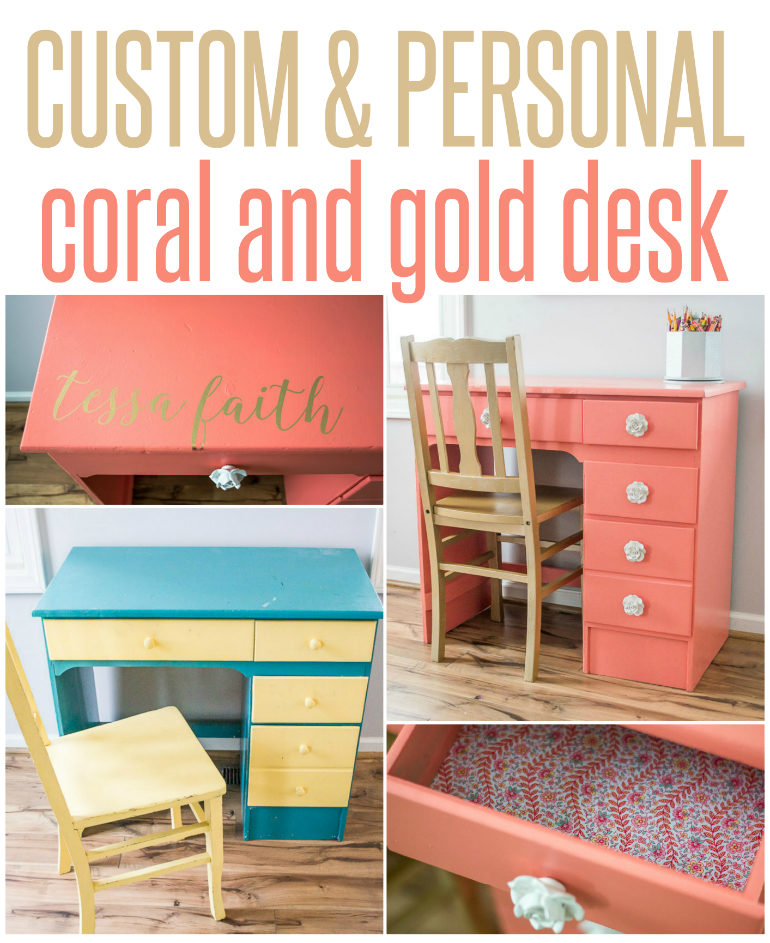 Personalized Coral Desk