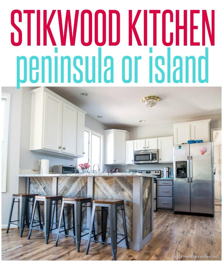 Kitchen Peninsula Island: Stikwood Kitchen Peninsula