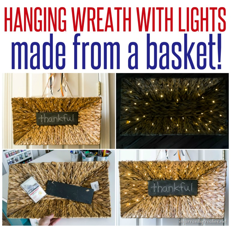 Woven Basket Light up Wreath - Infarrantly Creative