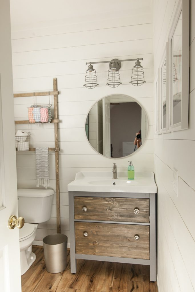 Shiplapped Half Bath Makeover