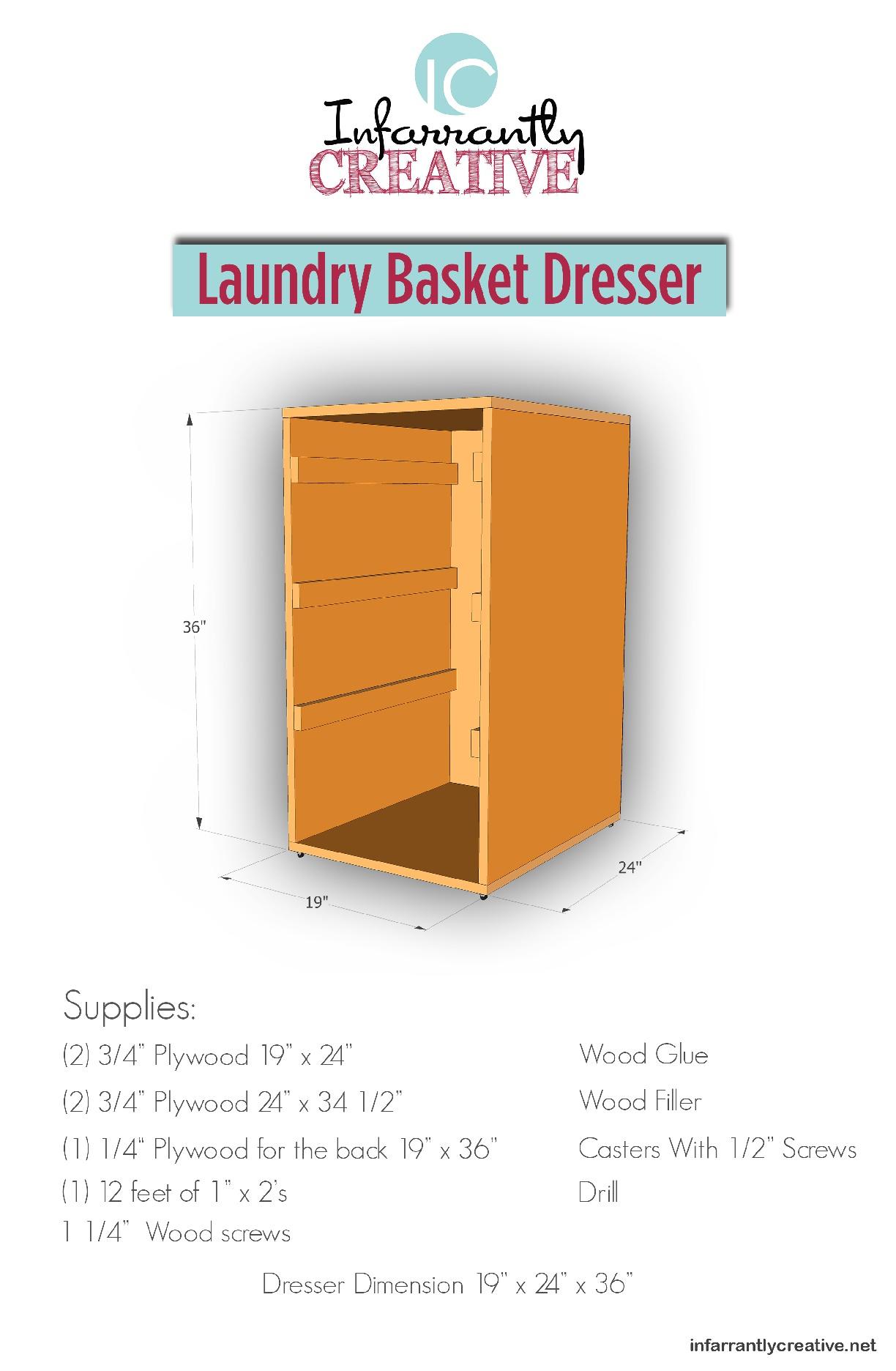Laundry Basket Dresser Download   Infarrantly Creative